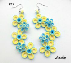 Quilling earrings... This is a terrific pattern for just about anything!