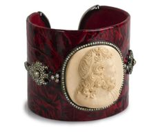 Miriam Salat and David Aaron Joseph are the designers behind the brand  Bochic . Their leather cuff sports a carved mammoth portrait cameo, surrounded with approximately 5.5 carats of diamonds. $20,250. Bochic is carried by Wilkes Bashford, Palo Alto.