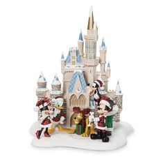 Product Image of Mickey Mouse and Friends at Cinderella Castle Holiday Figure - Walt Disney World # 1 Disney Christmas Village, Mickey Christmas, Merry Christmas, Disney Love, Disney Parks, Walt Disney, Mickey Mouse Images, Mickey Mouse And Friends, Disney Figurines