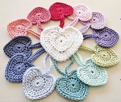 Perfect Hearts!!  Love this Barbara Summers Heart pattern I stumbled across on Ravelry. These hearts would look perfect against the windows