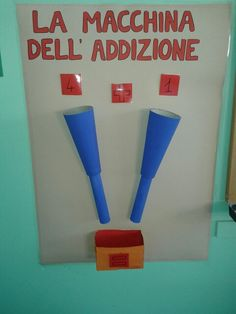 Macchina dell'addizione Simple Math, Math For Kids, Montessori, Teacher, Hipsters, School, Google, Autism, Kids Math