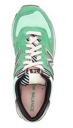 green and pink New Balance sneakers http://rstyle.me/n/wkj8ipdpe