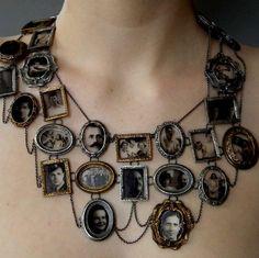 Awesome photo collage necklace.   musefraisedesbois:  Ashley Gilreath 2011