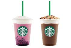 Starbucks Acai Mixed Berry Yogurt and Granola Dark Mocha Frappuccino Blended Beverages