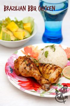 Oven Baked Brazilian BBQ Chicken with Coconut Rice, Mango & Avocado