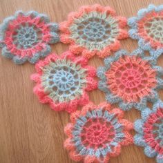 Japanese Flower Crochet Scarf 3 | Flickr - Photo Sharing! Rosyjojo