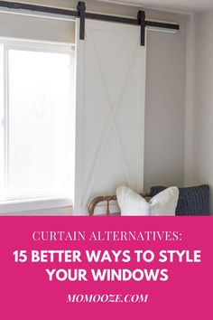 Bored with curtains? Here are 15 creative and stylish alternatives for how to dress your windows!  #windows #homedecor #curtains #interiors #design #kitchen #livingroom #bedroom #decorate #diy
