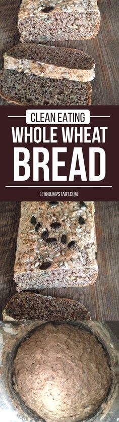 Whole wheat bread recipe: ridiculously easy with a 3-minute dough via @leanjumpstart #wholewheat #healthybread