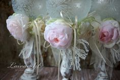 Wedding Candle Holder Bridal Shower Decoration Ceremony Set of 3 - pinned by pin4etsy.com