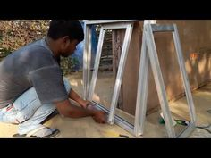 Making aluminium slaiding windows with mosqito net - YouTube Windows, Doors, Youtube, Home Ideas, Window, Ramen, Youtube Movies, Doorway, Gate