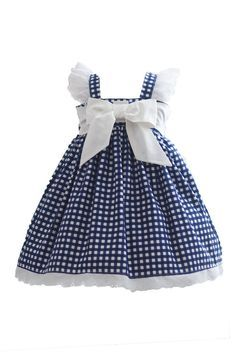 Kinder Kouture is an online retailer for quality handmade girl's clothing with a touch of class. Frock Patterns, Girl Dress Patterns, Blue Gingham, Gingham Dress, Toddler Dress, Baby Dress, Infant Toddler, Little Girl Dresses, Girls Dresses