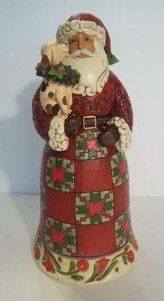 "2001 Jim Shore Santa Holding A Dog ""Faithful Friends"" Figurine 