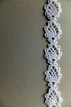 Crocheted lace trim edging - white. $16.00, via Etsy.