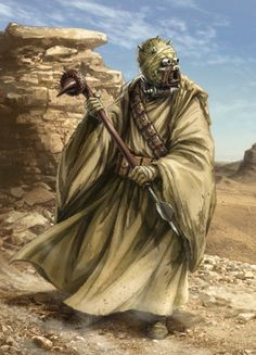 A Tusken Raider - native of Tatooine.