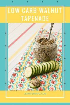 This Olive Tapenade recipe is perfect for picnics or as an easy snack. Serve this olive tapenade with cucumber slices Or crackers. #ketorecipes #lowcarbdiet #picnic #lowcarb