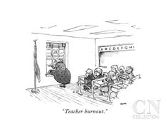 """Teacher burnout."" - New Yorker Cartoon Poster Print by George Booth at the Condé Nast Collection"