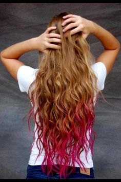 Dip-Dyed Hair!
