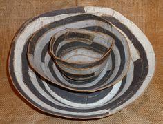 granite nesting bowls by Brenda Holzke