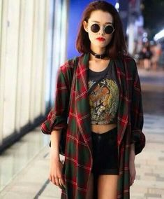 blouse plaid long flannel shirt flannel top flannel plaid flannel shirt plaid flannel crop tops choker necklace choker collar black shorts shorts sunglasses sunnies vintage hipster women gorgeous fashionista chill rad casual style stylish trendy cute grunge jewelry grunge top grunge crop top grunge grunge wishlist alternative alternative rock streetstyle streetwear blogger authentic edgy cool tumblr outfit tumblr shorts tumblr top tumblr girl tumblr tumblr clothes girl instagram goth…