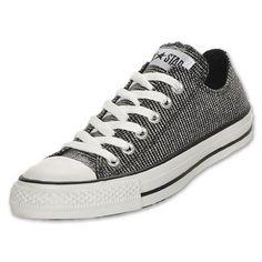 CONVERSE Chuck Taylor Ox Shoe, Black/Silver/White Size 5 For Women