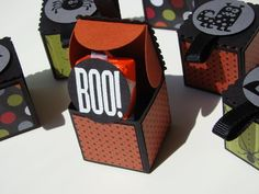 Qbee's Quest: Boo Box Tutorial, using the petal punch from stampin up, tutorial is included in post..