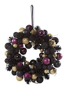 purple gold black wreath