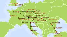 Orient Express Train routes - Venice Simplon