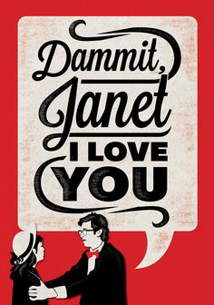 Dammit, Janet - The Rocky Horror Picture Show Poster. $20.00, via Etsy.