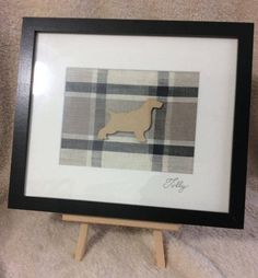 """Personalised Dog Art, framed in a Black 12"""" x 10"""" (internal measurements) by PetPortraitsbySarahB on Etsy"""