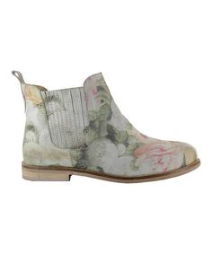Look at this #zulilyfind! Natural Floral Felicia Leather Ankle Boot #zulilyfinds