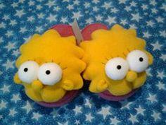 Pantuflas Lisa Simpson. Hecho a mano. Diseñamos lo que te gusta
