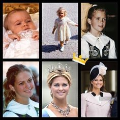 Princess Madeleine of Sweden evolution.  swedenroyalfamily