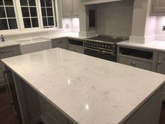 Kitchen of the week… Located in Ware, Herts, showcasing the Monaco Carrera - Rock and Co Granite Ltd Carrera, Monaco, Marble Quartz, Marble Effect, Splashback, Kitchen Styling, White Marble, Granite, Kitchens