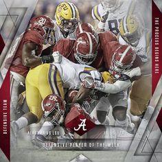 """Entire Alabama Defense named """"Defensive Player of the Week by Walter Camp Football #Alabama #RollTide #Bama #BuiltByBama #RTR #CrimsonTide #RammerJammer #BAMAvsLSU"""