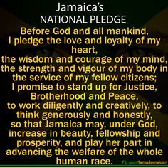 Jamaicas national pledge