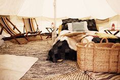 Love me a bell tent.