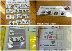 Embedded Expressive Language Visuals in an Autism Classroom by theautismhelper.com