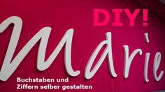 DIY Wandtattoo, Buchstaben von PAULSBECK Buchstaben, Dekoration & Geschenke auf DaWanda.com