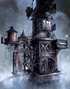 Batman Arkham City Wonder Tower concept art