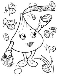 image result for hershey kiss coloring pages