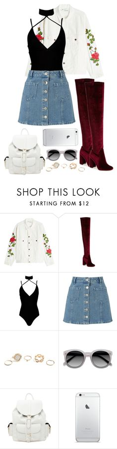 """Untitled #130"" by bewitched-bodyandsoul ❤ liked on Polyvore featuring Off-White, Jeffrey Campbell, Boohoo, Miss Selfridge, GUESS, Ace and Forever 21"