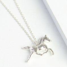 Sliver Horse Necklace