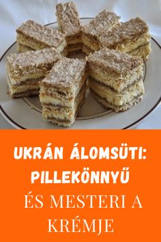Hungarian Desserts, Hungarian Recipes, Side Dish Recipes, New Recipes, Cooking Recipes, Cake Bars, Baking And Pastry, Winter Food, Food Dishes