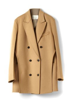 Phillip Lim Splittable Wool Coating Oversize Trompe L'Oeil Layered Peacoat
