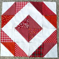 Fabrics cut from my stash using the Sizzix Big Shot and the 5 inch Half Square Triangle Bigz Die  Blogged