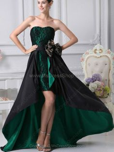 Buy black and green sweetheart high low prom outfits with bowknot and lace from high low prom dresses collection, sweetheart neckline empire in green color,cheap high low dress with zipper back and for prom celebrity . Dark Green Prom Dresses, Pretty Prom Dresses, Prom Dress 2014, High Low Prom Dresses, Best Prom Dresses, Prom Dress Shopping, Lace Bridesmaid Dresses, Prom Dresses Online, Formal Evening Dresses