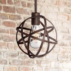 Oh my gosh! These mini pendant orb lights are so cute.  2-3 of these in the kitchen would look great.
