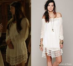 Free People Shirred peasant tunic in ivory from Reign My Unique Style, My Style, Reign Dresses, Reign Fashion, Womens Workout Outfits, Business Dresses, Custom Dresses, Night Gown, Cute Outfits