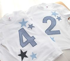 "Camisa de manga comprida ""Estrelas"" com nome - Sewing - Fashion Week, Kids Fashion, Applique Quilt Patterns, Baby Co, Sewing For Kids, Handmade Baby, Sewing Clothes, Birthday Shirts, Boy Outfits"