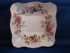 Antique-Bone China Rose Pattern | Royal Albert Bone China - Moss Rose Pattern - Small Square Dish with ...